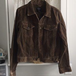 """Brown corduroy """"jeans"""" jacket"""